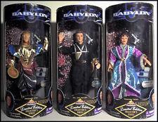 """Babylon 5 - 3 9"""" Doll Figures ~ G'Kar, Captain Sheridan, Deleen"""
