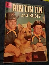 RIN TIN TIN AND RUSTY #31 PHOTO COVER DELL TV SHOW 1959 GOLDEN-AGE vg- western