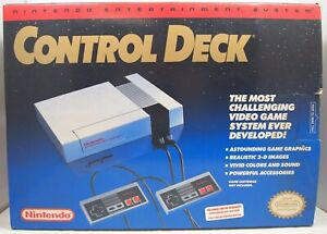 Nintendo Entertainment System NES 1990 Control Deck Authentic Console BOX ONLY