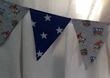 CATH KIDSTON BLUE COWBOY BOYS BUNTING CURTAIN TIE-BACKS with BLUE SHOOTING STARS
