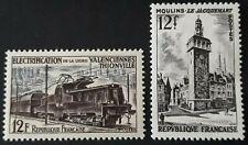 (1955)LOT DE 2 TIMBRES FRANCAIS -N°1024/1025 NEUFS AVEC CHARNIERES *