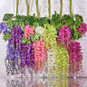 Artificial Flower Bean Flower Plastic Green Leaf Cane Wedding Garden Decoration