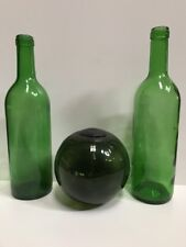 12,5cm Ball and Green Glass Bottles H 29 cm see photos GREAT DECO