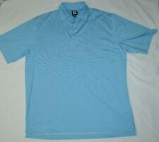 Fj Foot Joy Blue Collared Polo Golf Short Sleeve Shirt Moisture Wick Mens Xl Euc