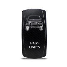 CH4x4 Rocker Switch Halo Ligths Symbol -  Vertical - Green LED