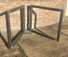 2x Hecho a Mano, Mesa de Muebles de Acero 5x5cm Caja desnudo PIERNAS. industrial Chic 86x71cm