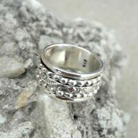 All Size S03 Details about  /Solid 925 Sterling Silver Spinner Ring Handmade Woman Gift Ring