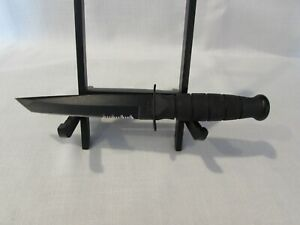 Ka-Bar Black Tanto Fixed Blade Knife w/Hard Sheath Made in Olean NY, USA