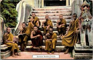 Postcard Burmese Buddist Priests~131906