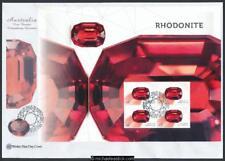 30-Mar-2017 Australia Rhodonite Mini Sheet Wesley First Day Cover
