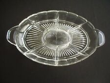 CLEAR GLASS HORS D'OEUVRE / TAPAS DISH ~7 SECTION ~USEFUL & STYLISH