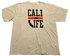 California Bear T-shirt Adult Extra Large Gray California Mens U200