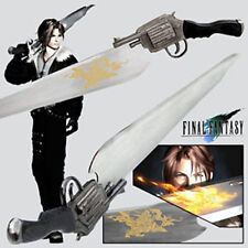 Final Fantasy LIONHEART GunBlade Sword With Sheath + Wooden Display Stand
