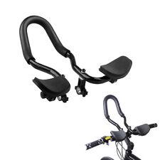 Bicycle Alloy Triathlon Aero Rest Handle Bar Handlebar Clip On Tri Bar Black