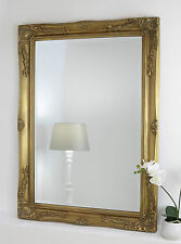 "Isabella Gold Shabby Chic Rectangle Antique Wall Mirror 36"" x 26"" Large"