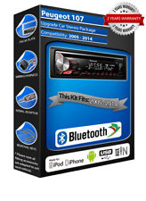 PEUGEOT 107 deh-3900bt radio de coche, USB CD MP3 ENTRADA AUXILIAR Bluetooth Kit