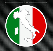 ITALIAN ROUNDAL Sticker/Decal - 75mm Diameter - Printed and Laminated - Italy