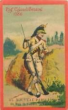 REGIMENT COLONEL GÉNÉRAL 1786 UNIFORME MILITAIRE COSTUME ARMÉE 1900s CHROMO