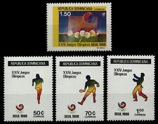 Dominikanische Republik 1988 - Mi-Nr. 1563-1566 ** - MNH - Olympia Seoul