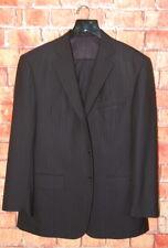 Mens 44 R Custom SCABAL Super 130's 3/2 Roll Navy Blue Stripe Wool Suit 38x31rz