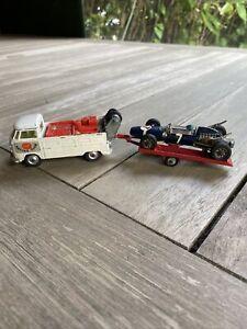 Corgi Toys VW Van , Racing Car Trailer , & Cooper Maserati Set
