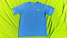 Under Armour Athletic T Shirt Large Lite Blue