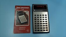 New ListingVintage Ti-30 Texas Instruments Electronic Slide-Rule Calculator Owners Manual