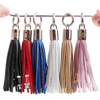 Tassels Keyring Bag Charm USB Data Charger Cable for iPhone 5 5S 5C 6 6S 7 Plus