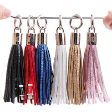 Tassels Keyring Bag Charm USB Data Charger Cable for iPhone 5 6 7 8 X MAX Plus