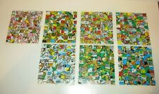 Disney Vintage 1985 Mosaic Character Sticker Sheets Lot/3 Double & One Single