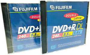 Fuji -- Double Layer Single Sided DVD+R DL Discs -- 2.4x -- 8.5 GB -- 2-Pack