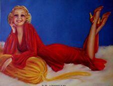 Rare*WWII*1941*Pin Up*Calendar*Salesman Sample*Billy Devorss*Rhapsody in Red*Sex