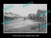 OLD LARGE HISTORIC PHOTO OF ARARAT VICTORIA, VIEW OF BARKLEY STREET c1880 2