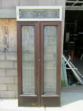 ~ Antique Entryway Full Beveled In Zinc ~ Double Doors And Transom ~ Salvage