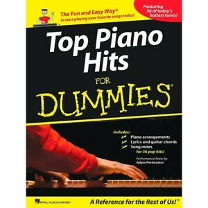 Hal Leonard Top Piano Hits For Dummies - The Fun and Easy Way to Start Playing