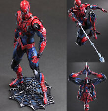 "Marvel Universe Play Arts Kai VARIANT Spider-Man 10"" Statue Action Figure Toys"