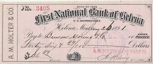 1891, FIRST NATIONAL BANK OF HELENA, MONTANA