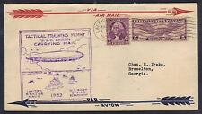 US 1932 ZEPPELIN USS AKRON NAVY TACTICAL TRAINING FLIGHT CARRYING AIR MAIL USPO