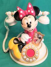 Vintage Disney Minnie Mouse Desk Telephone Telemania ~ Rare Collectible