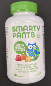 Smarty Pants Kids Formula & Fiber Multi + Omega 3's, 90 Gummies - Exp 06/21