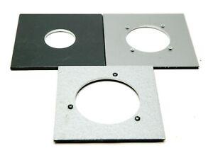 "3 4x4"" Original Calumet Lens Boards F/Calumet, Deardorff & BJ F/Copal #0, 1 & 3."