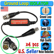 4pcs Coaxial Video Ground Loop Isolator Balun BNC Male to Female for CCTV Camera