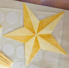 New WALLIES Yellow Celestial Stars Wall and Project Stickers 12061