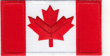 "CANADA FLAG-CANADIAN (4 1/2"" x 2 1/2"")-Iron On Embroidered Patch, Flag of Canada"
