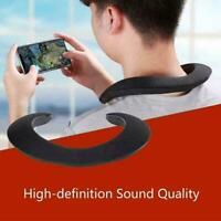 Wireless Bluetooth Neckband Neck Speaker Stereo Music Speaker Sport F7S5