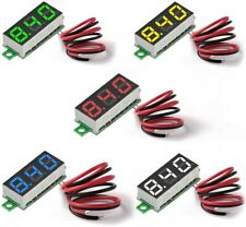 5pcs 5colours Mini Digital Dc Voltmeter 028 Inch Two Wire 25v 30v Tester Meter