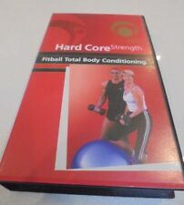 FITBALL Fitness Video Hard Core Strength Fitball Total Body Conditioning VHS Vid