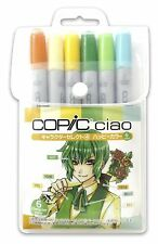 COPIC CIAO Markers 6 Set Character Select 4 -Happy Colors- Manga w/Tracking