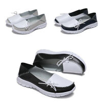 Size 6-10 Women Casual Real Leather Comfy Driving Flat Loafers Ladies Pump Shoes