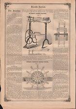 1857 - DEGRAW BOTTLE WASHING  MACHINE  PATENT REPORT
